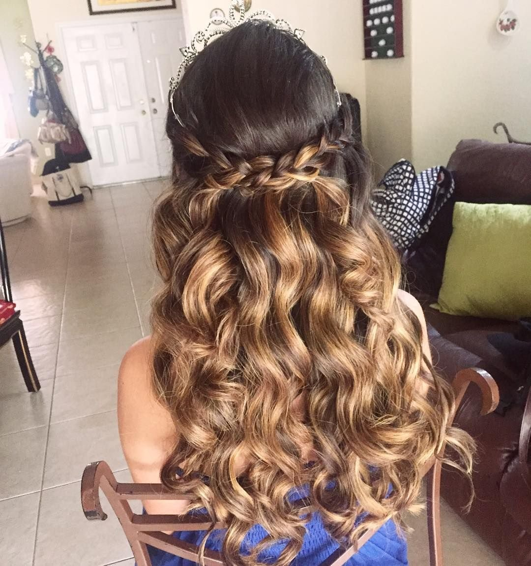 Free 20 Absolutely Stunning Quinceanera Hairstyles With Crown Wallpaper