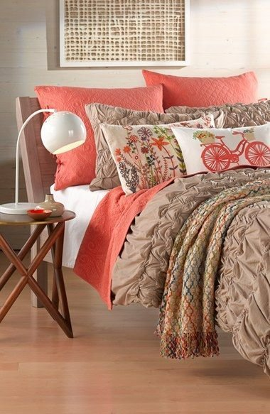Best Love The Coral Accents On This Bedding Our Favorite With Pictures