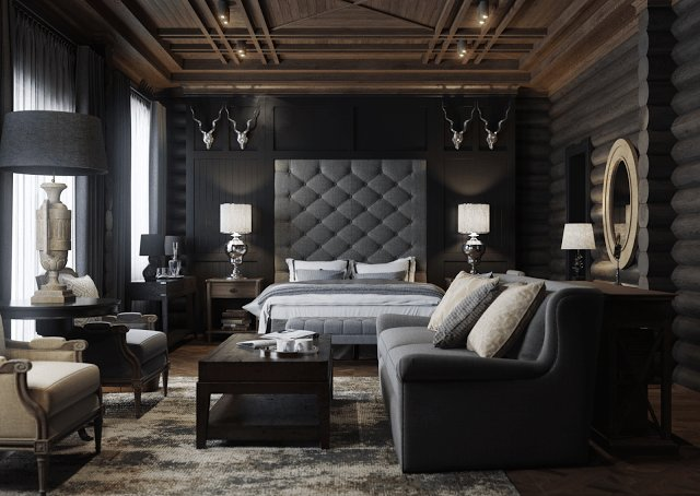 Best Hotel Interiors Inspirations Home Luxurious Bedrooms Masculine Room Masculine Master Bedroom With Pictures
