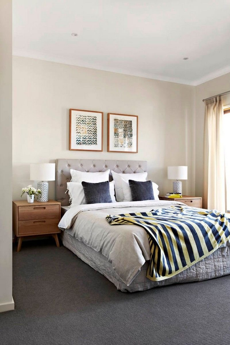 Best Gray Carpet And Cream Walls In The Bedroom Usual House Bedroom Bedroom Carpet Grey Carpet With Pictures