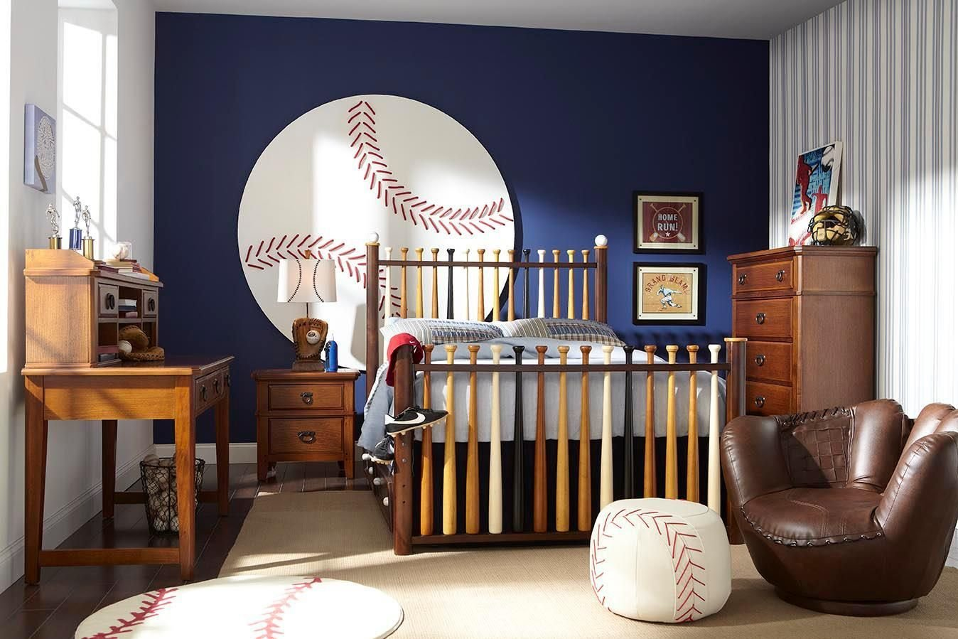 Best Batter Up 5 Pc Twin Bedroom Kid S Bedrooms Baseball With Pictures