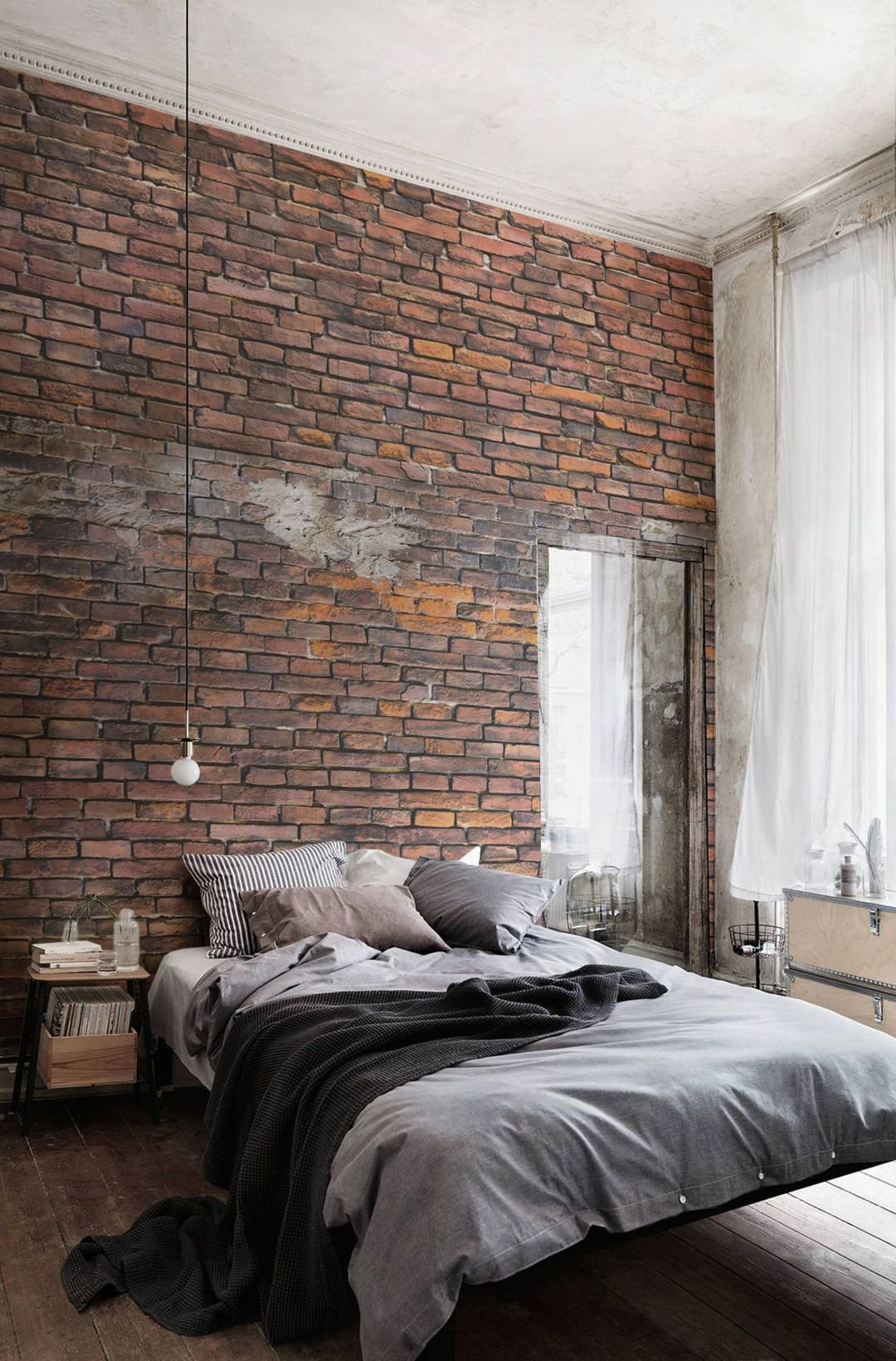 Best Urban Decayed Red Wall Mural In 2019 Ideas For The House With Pictures