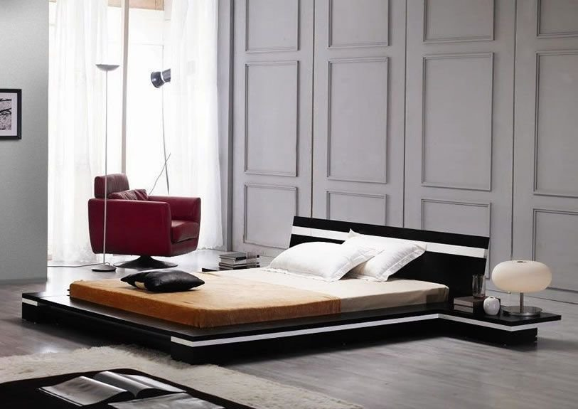 Best Sonata Modern Low Profile Bed Unique Furniture Store With Pictures