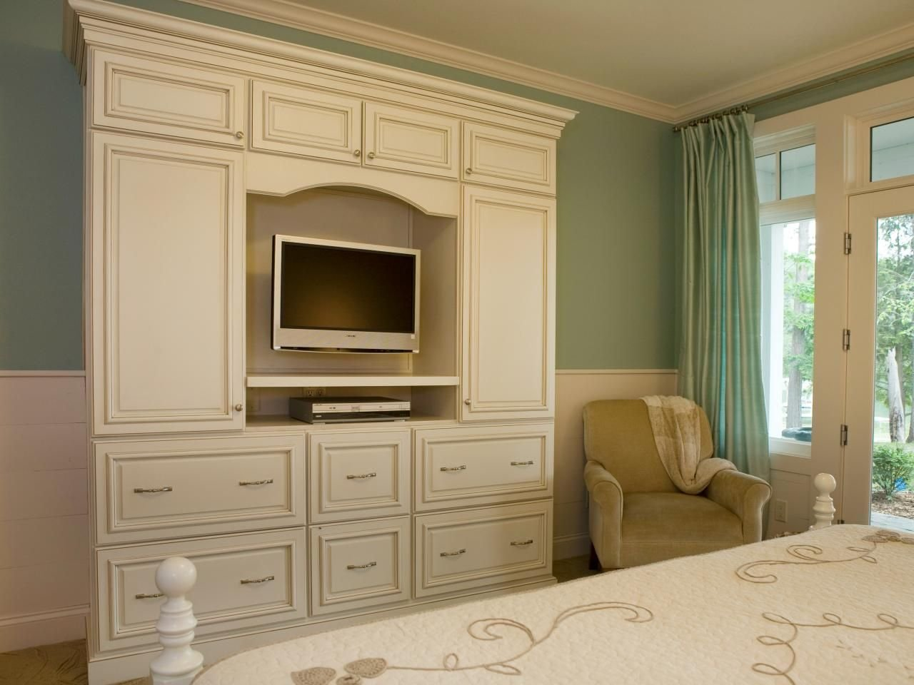 Best The Elegant White Armoire Provides Functional Storage And With Pictures