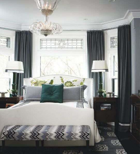 Best Luscious Style Bedrooms Bed In Front Of Bay Window With Pictures