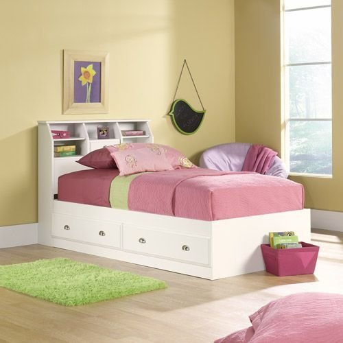 Best Sauder Shoal Creek Twin Mates Bed With Headboard Soft With Pictures
