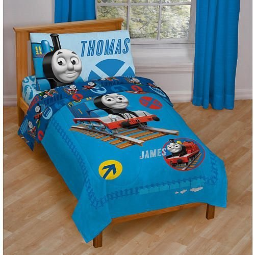Best Thomas Friends 4 Piece Toddler Bed Set Caden S With Pictures