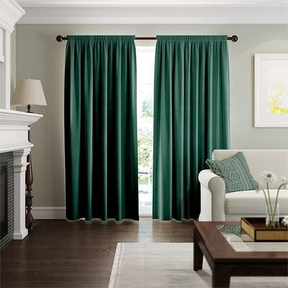 Best Fine Velvet Forest Green Curtains In 2019 Bedroom With Pictures