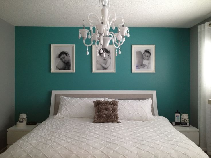 Best Teal Bedroom Ideas A Simple Teal Wall Really Pops In A With Pictures