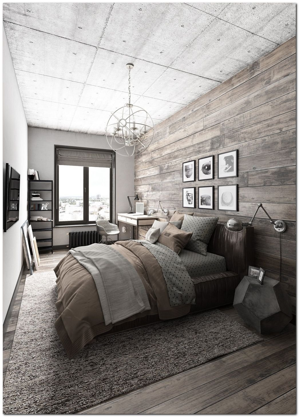 Best 70 Ideas For Industrial Bedroom Interior Bedroom Ideas Rustic Master Bedroom Farmhouse With Pictures