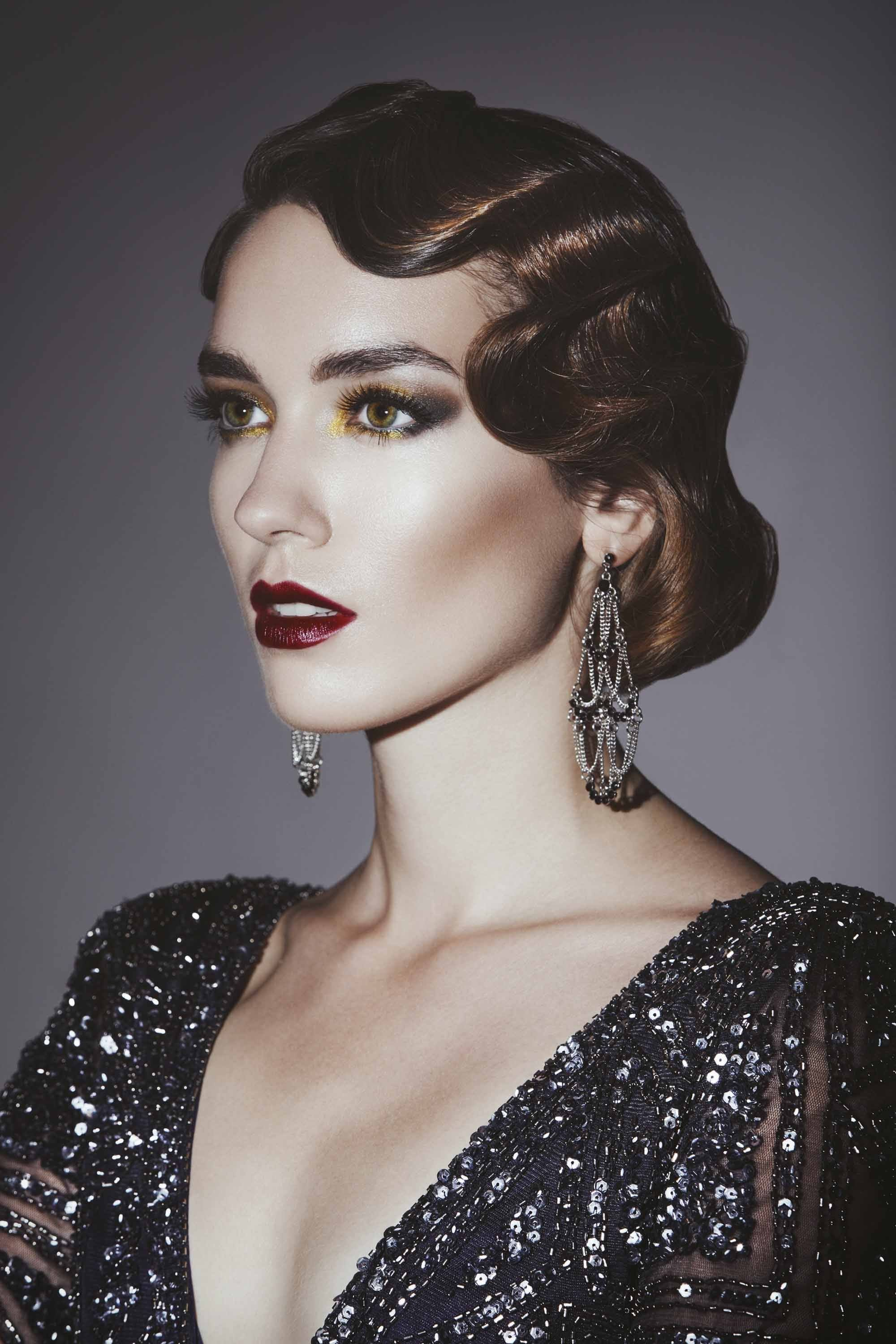 Free B 52 Hairstyle Finger Wave Wedding Great Gatsby Wallpaper