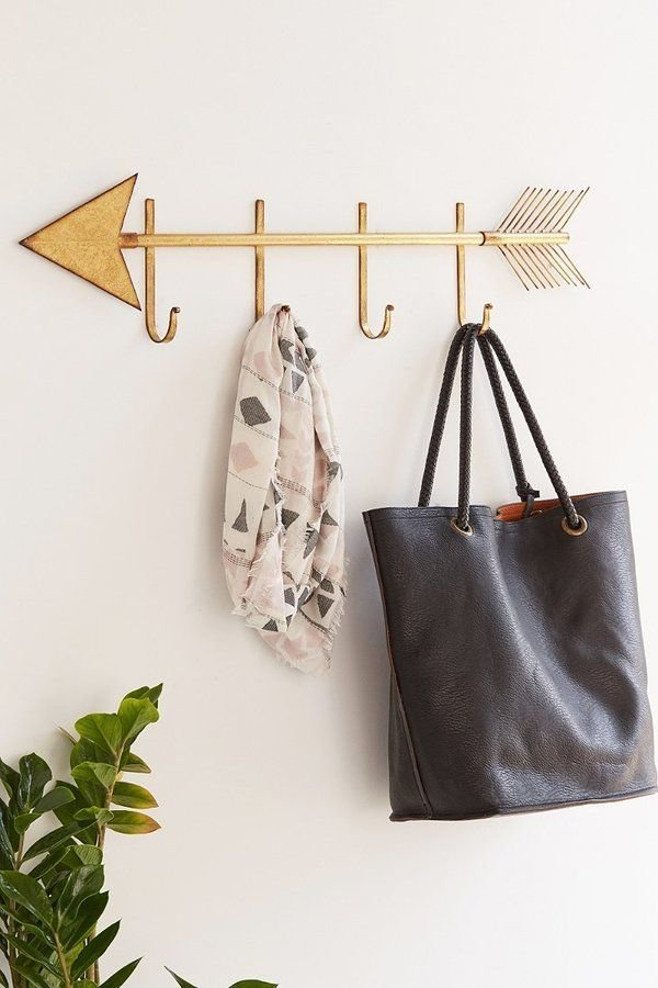 Best Golden Arrow Wall Hook Home Decor Modern Wall Hooks With Pictures
