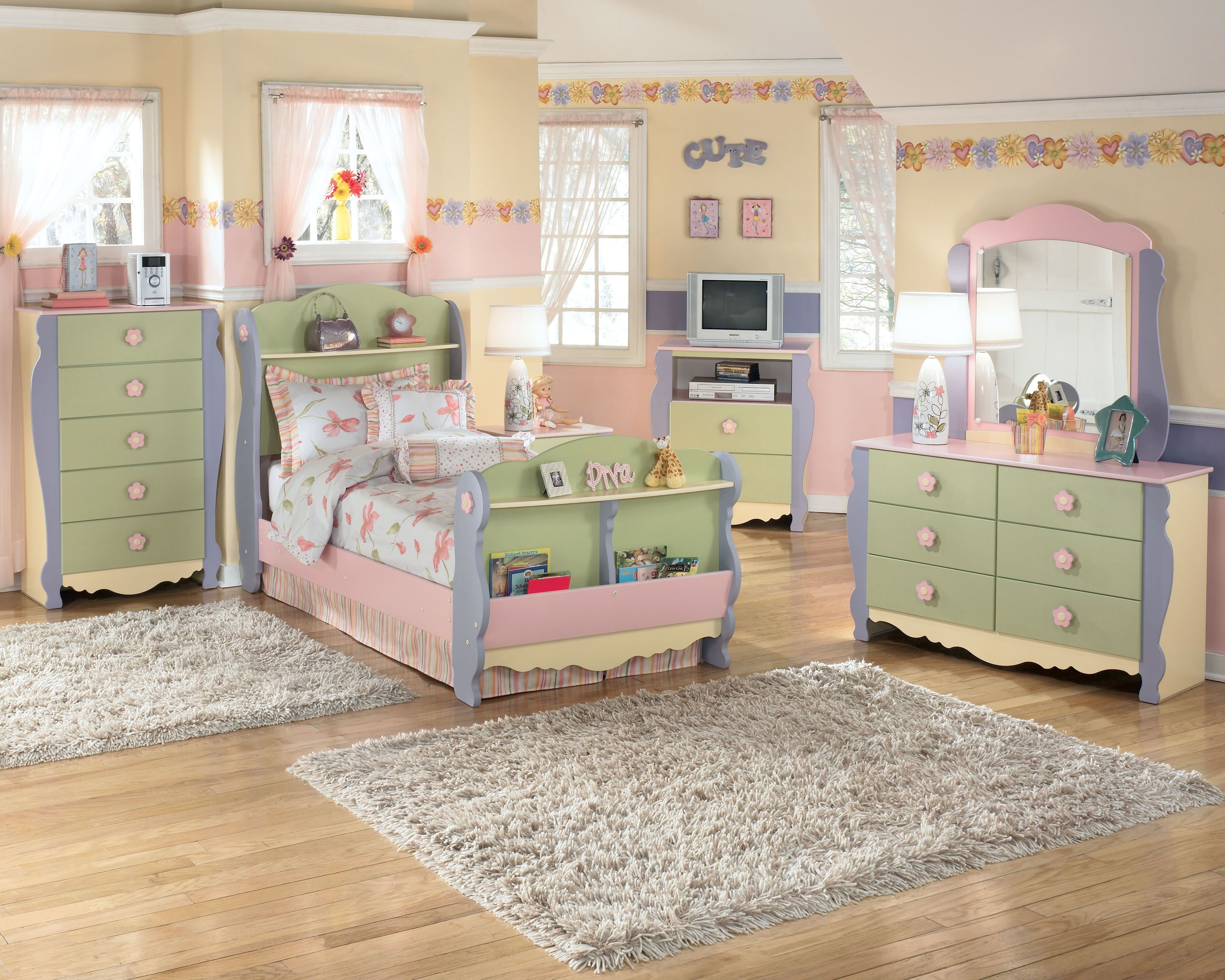 Best Such A Sweet Ashley Furniture Homestore Bedroom For A Little Girl She May Even Be Excited To With Pictures