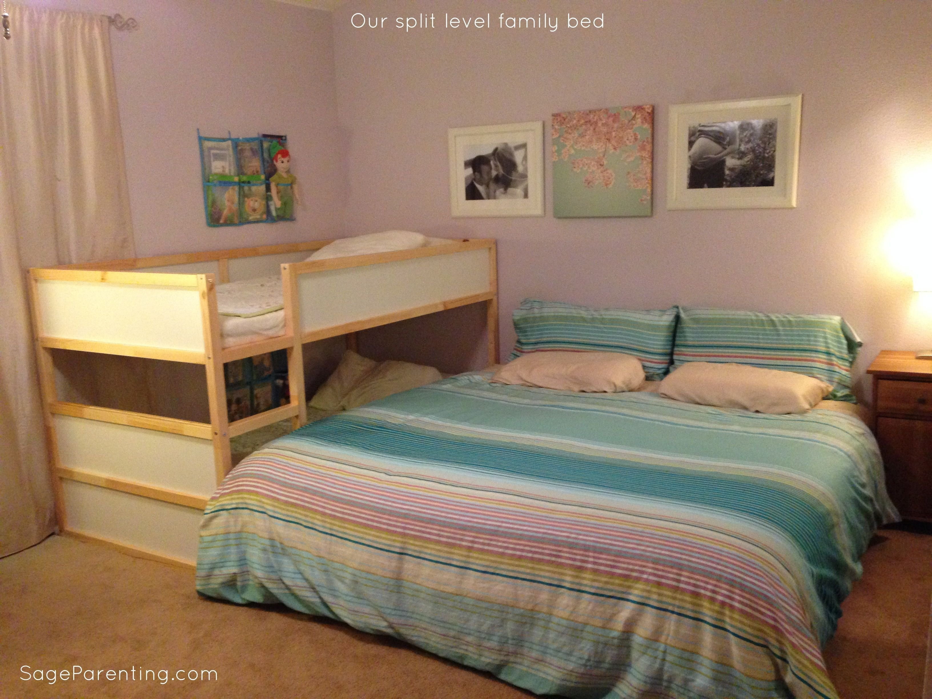 Best Our Split Level Family Bed Cosleeping Co Sleeping With Pictures