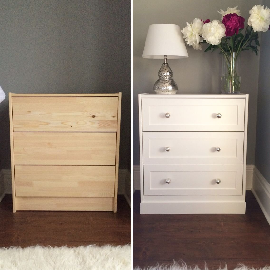 Best Ikea Rast Hack Bedside Table Diy Farrow And Ball White With Pictures