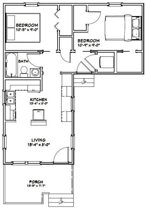 Best 14X32 Tiny House 14X32H1L 643 Sq Ft Excellent With Pictures