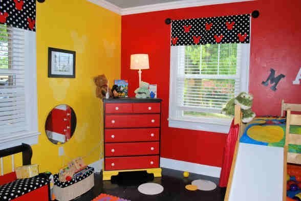 Best Mickey Mouse Bedroom Yellow Black And Red Color Scheme With Pictures