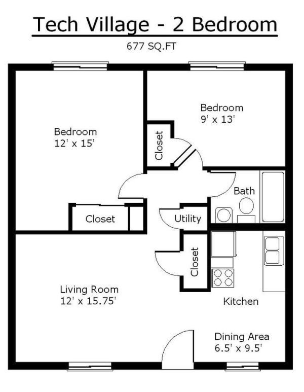 Best Tiny House Single Floor Plans 2 Bedrooms Apartment Floor Plans Tennessee Tech University By With Pictures