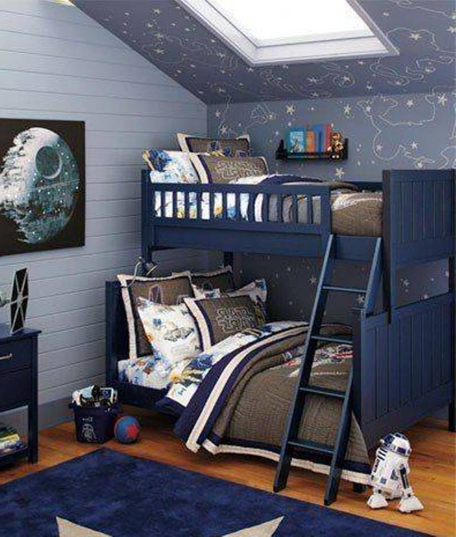 Best Boys Space Bedroom Star Wars Outer Space Bedroom For Twins Boys Bunk Bed And … Boys Room In With Pictures