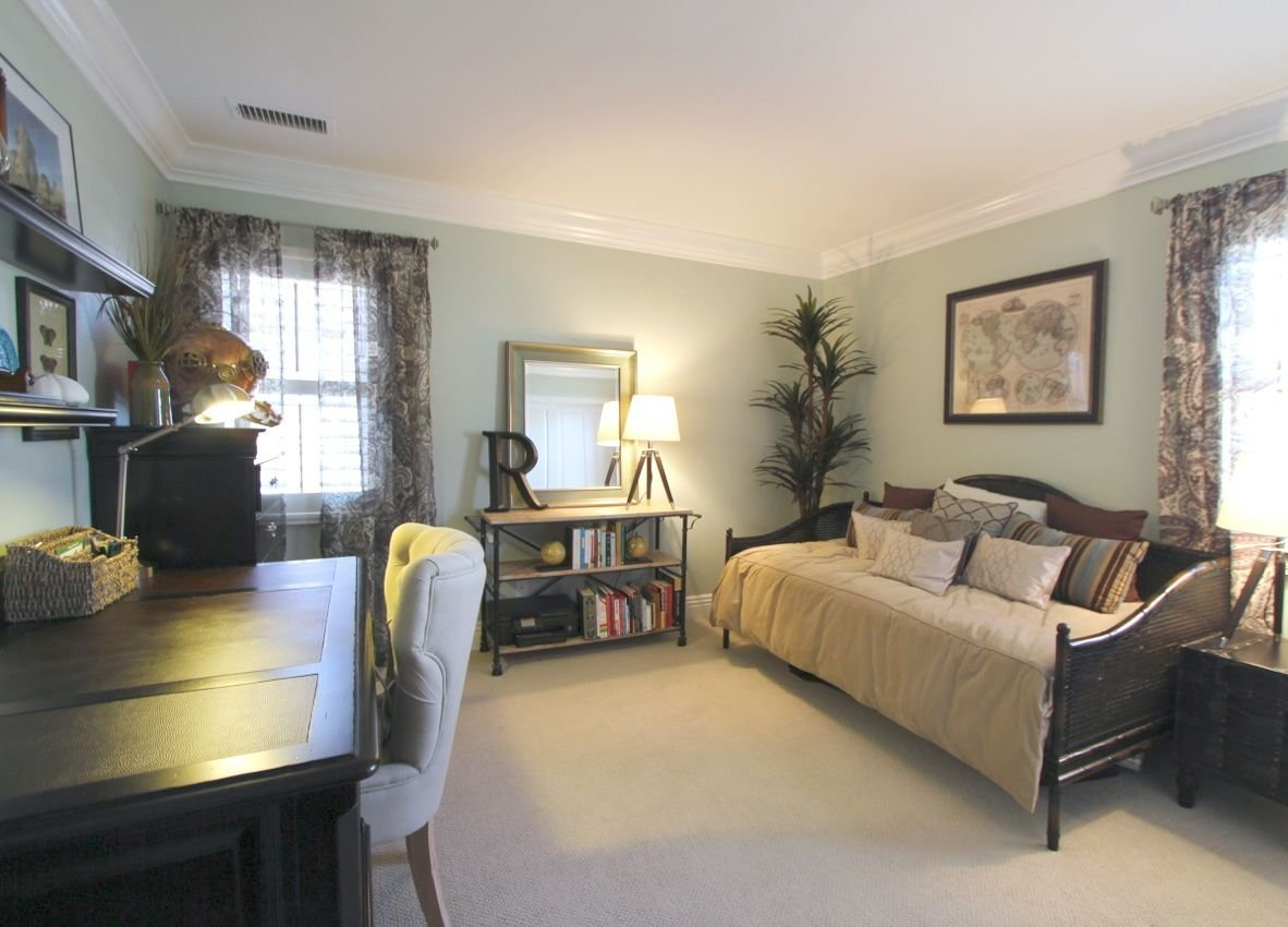 Best Guest Room And Office Wild Grass Wall Color Vista Paint Cane Daybed Paisley Drapes Espresso With Pictures