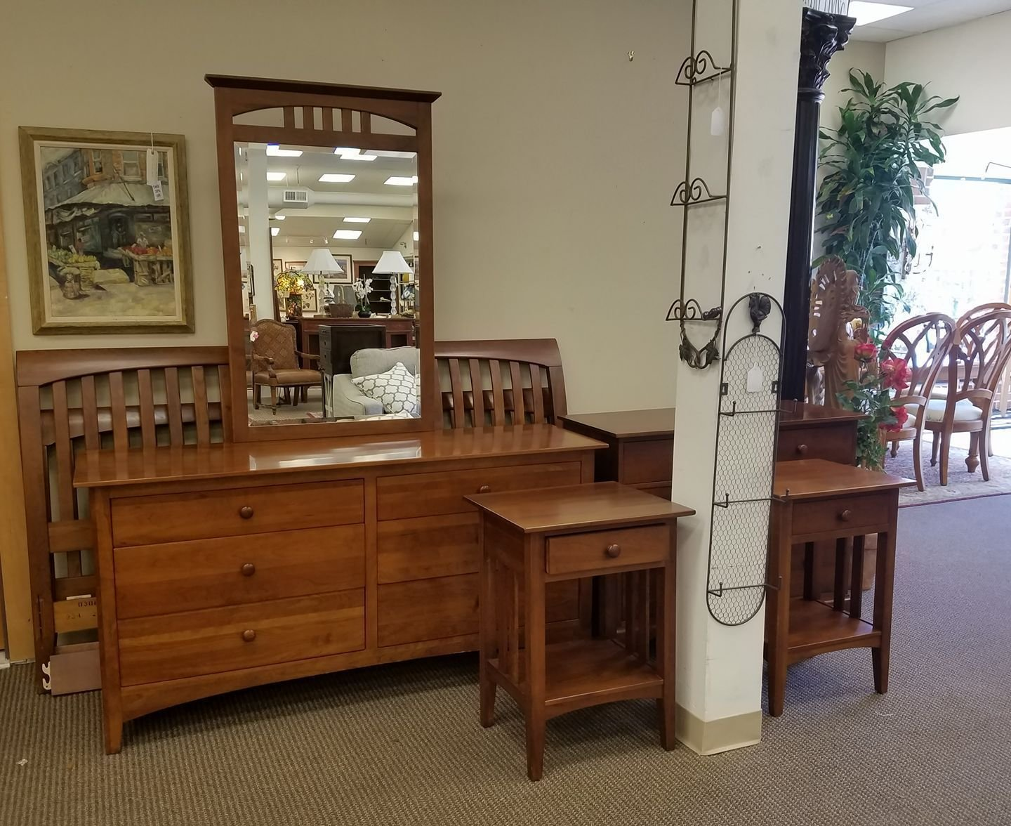 Best This Ethan Allen American Impressions Bedroom Set Is 1895 King Size Bedframe Dresser With With Pictures