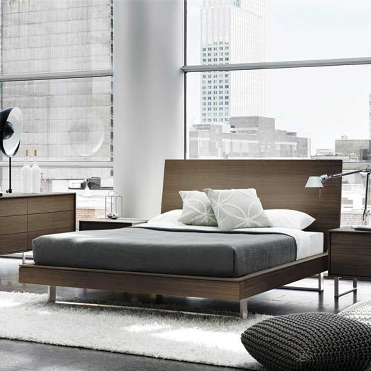 Best Modern Wood Floating Platform Bed Bedroom Set With Pictures
