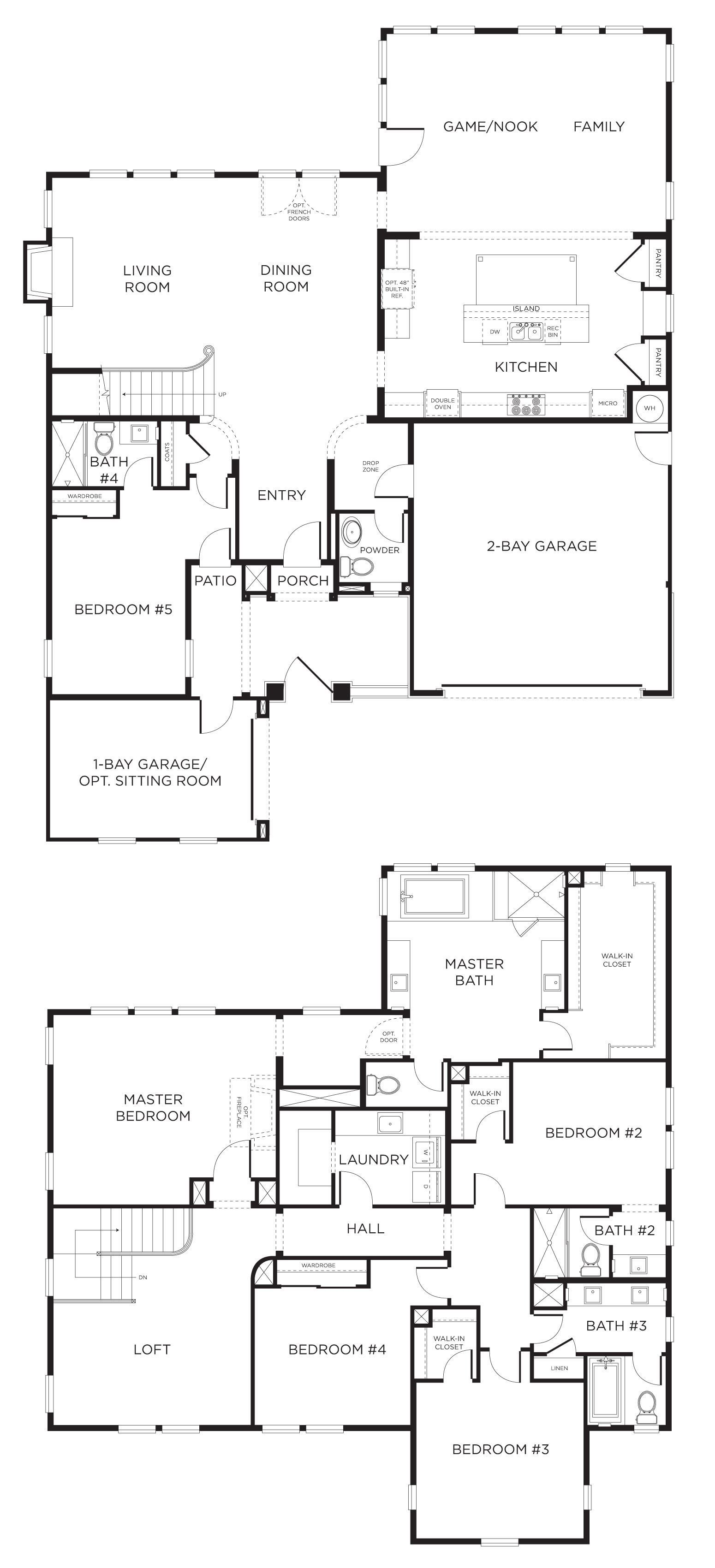 Best 5 Bedroom House Plan I D Move The 5Th Room Upstairs And With Pictures