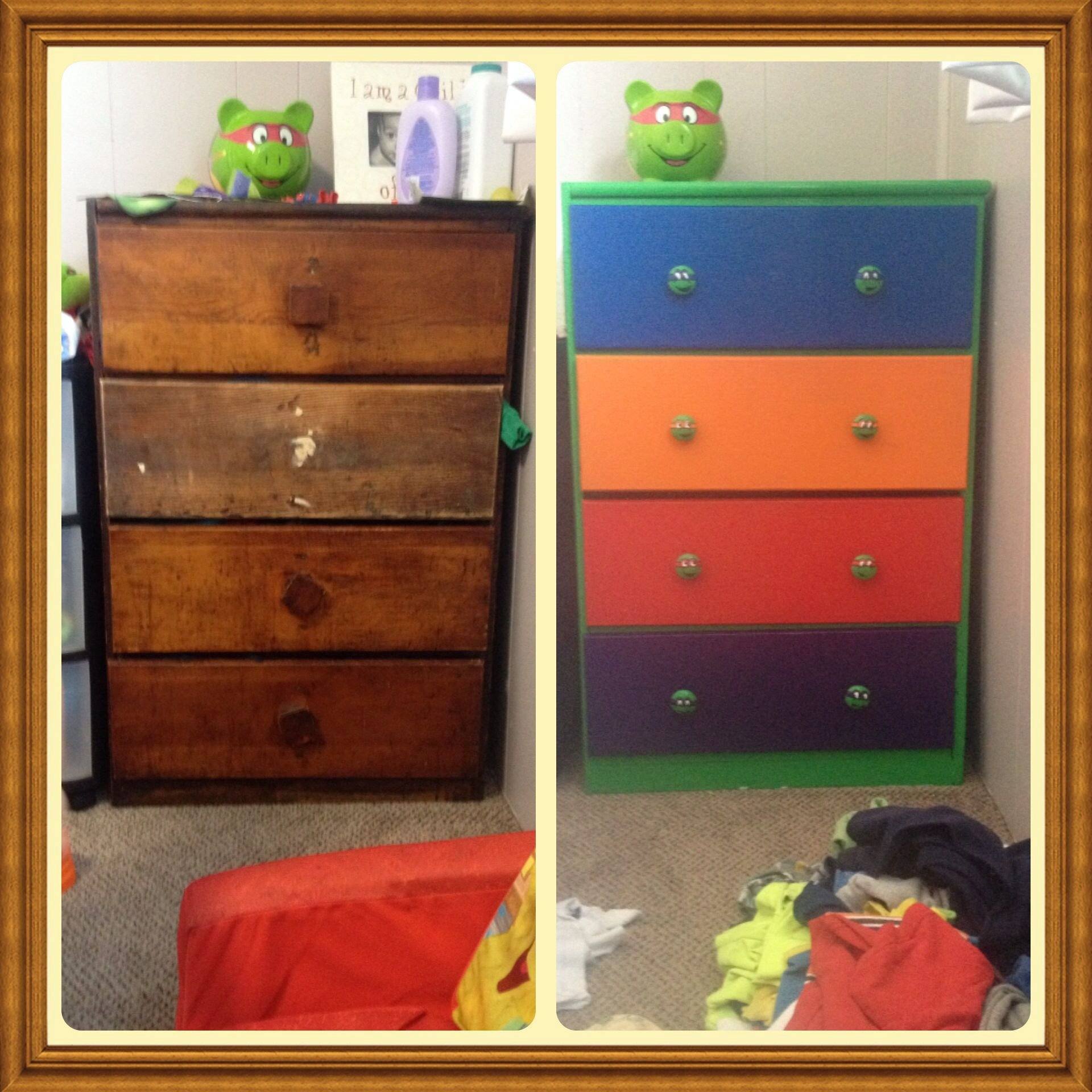Best Upcycled This Old Dresser Into A Teenage Mutant Ninja With Pictures