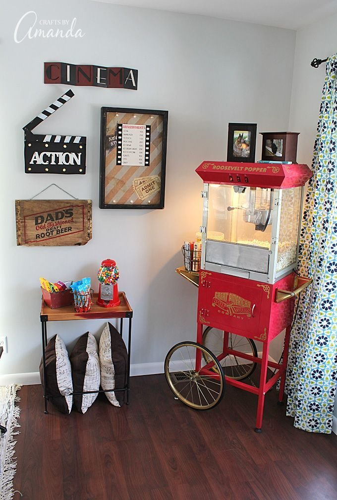 Best Decorate Your Family Room With Movie Theater Themed Decor With Pictures