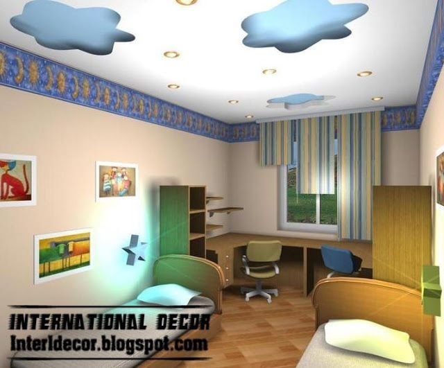 Best Cool And Modern False Ceiling Design For Kids Room With Pictures