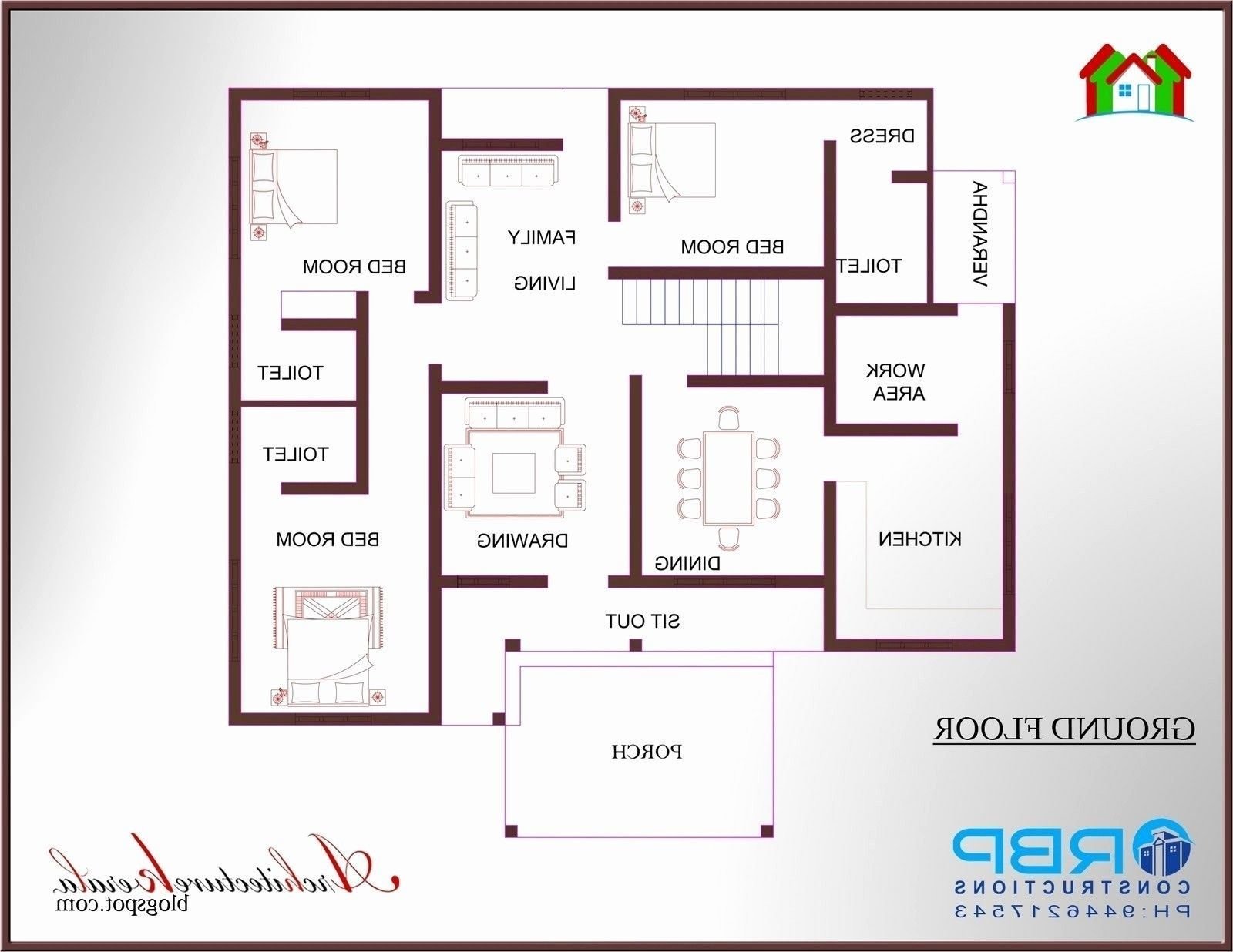 Best Lovely 2 Bedroom House Plans Kerala Style 1200 Sq Feet With Pictures
