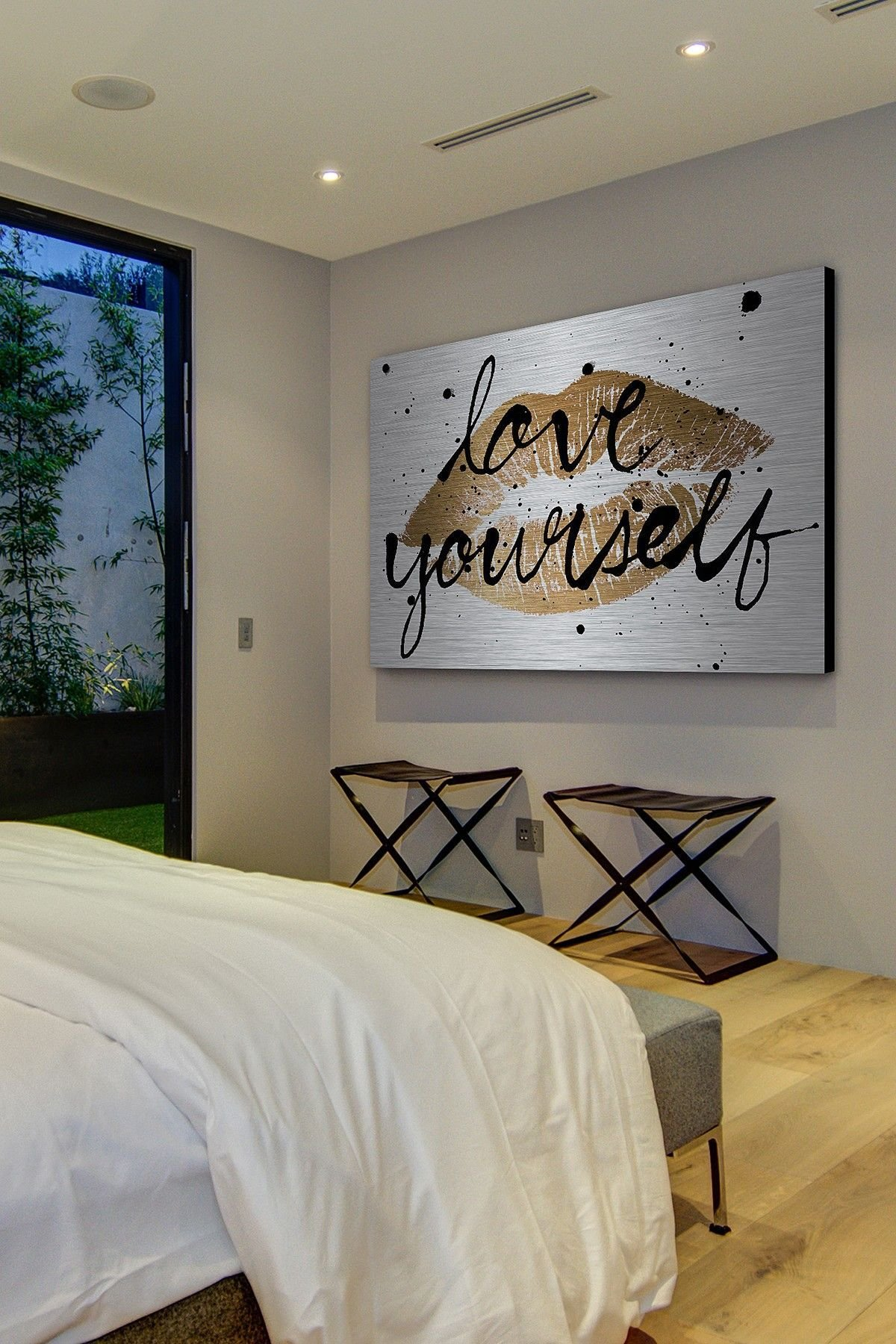 Best Love Yourself Gold Lips Aluminum Wall Art On Hautelook With Pictures