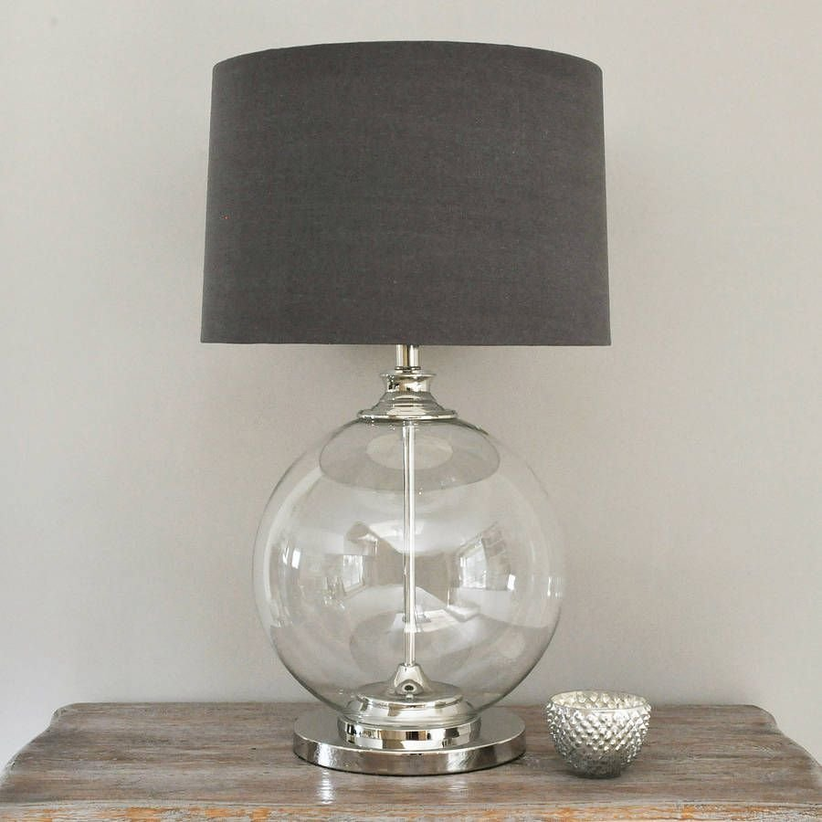 Best Glass Ball Table Lamp And Grey Shade Decor Lighting With Pictures