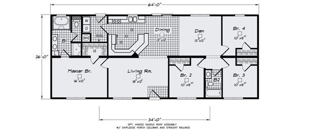 Best The Hamlet Ii 4 Bedroom Modular Floor Plan Cbs Modular With Pictures