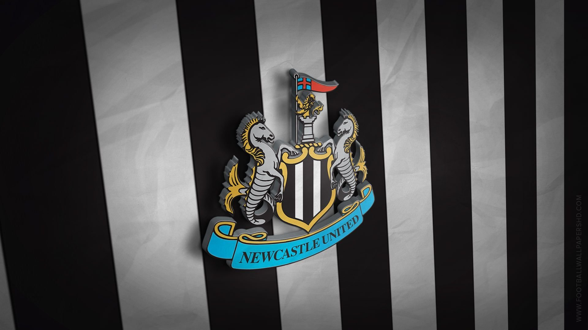 Best Newcastle United 3D Logo Wallpaper Football Pinterest With Pictures