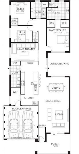 Best Rear Master Bedroom Floor Plans Single Story Google With Pictures