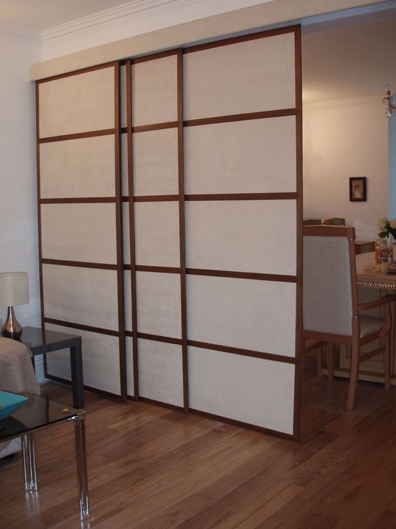 Best Japanese Room Divider Style Four Slide Door Panels On With Pictures