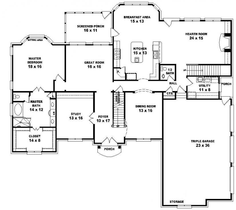 Best 654043 Two Story 5 Bedroom 4 5 Bath French Traditional Style House Plan House Plans Floor With Pictures
