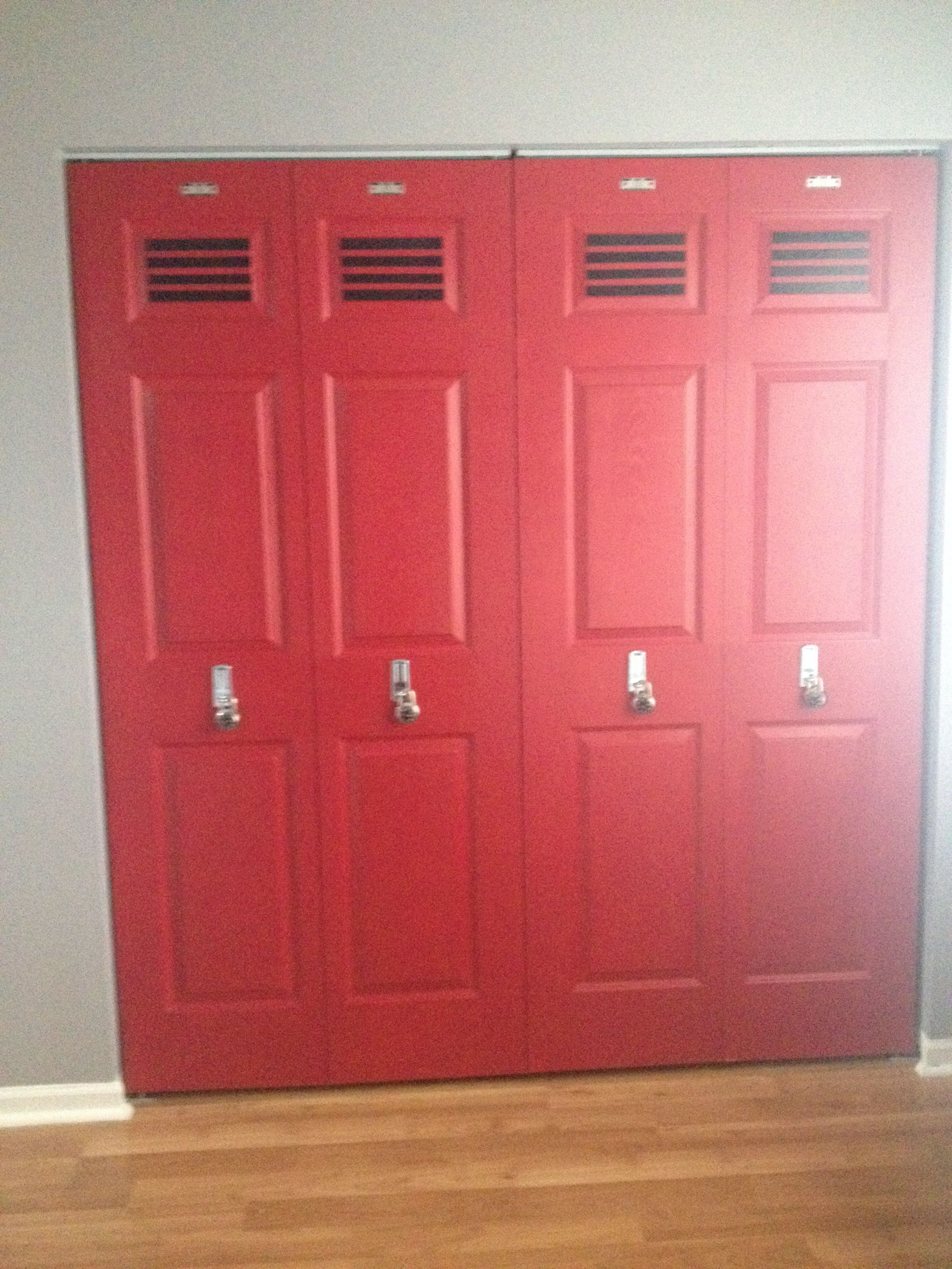 Best Locker Doors For Our Sports Room Kids Rooms Room With Pictures