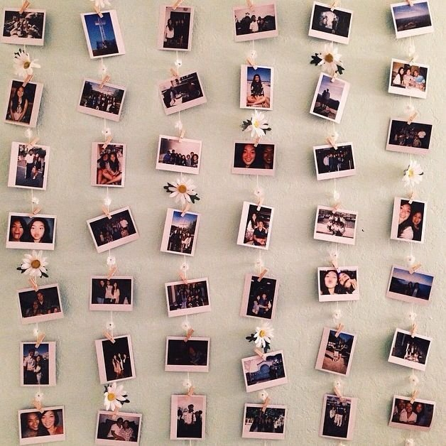 Best Polaroid Wall A Cute Little Way To Hang Polaroids Up With Pictures