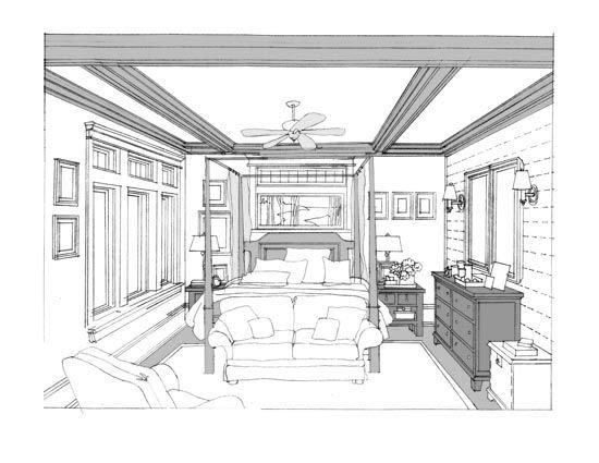 Best Kitchen Plan And Perspective Sketch Renderings In 2019 With Pictures