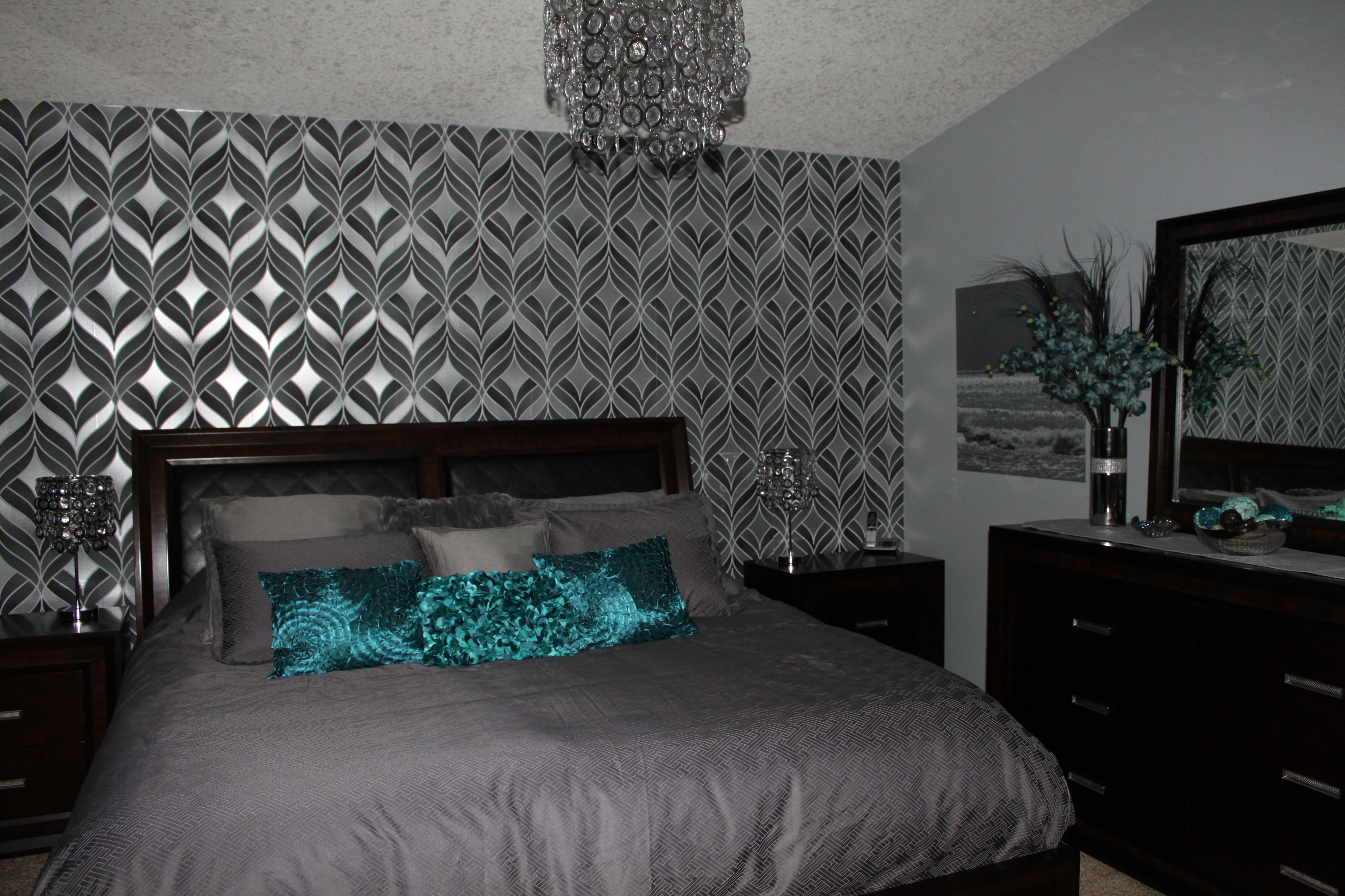 Best Silver And Teal Bedroom Teal Silver Bedroom Gray With Pictures