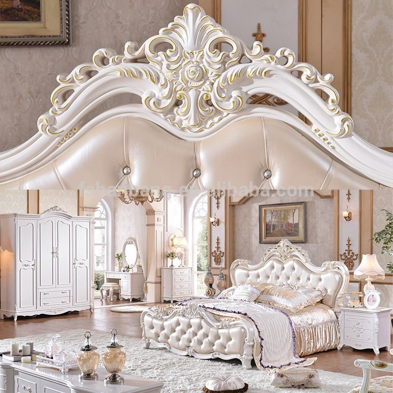 Best Antique Luxury Royal King Bedroom Furniture Set Photo With Pictures