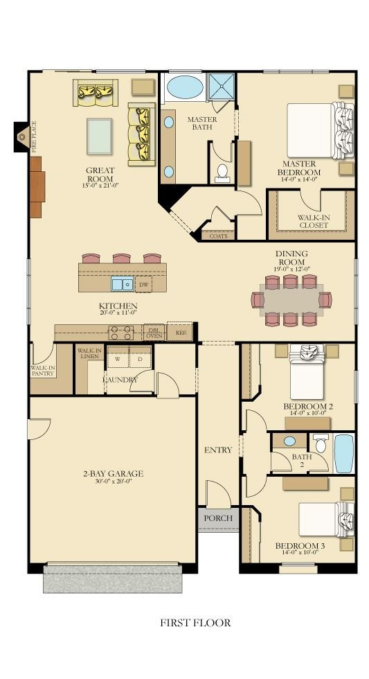 Best One Level Floor Plan From Lennarinlandla Featuring 3 With Pictures