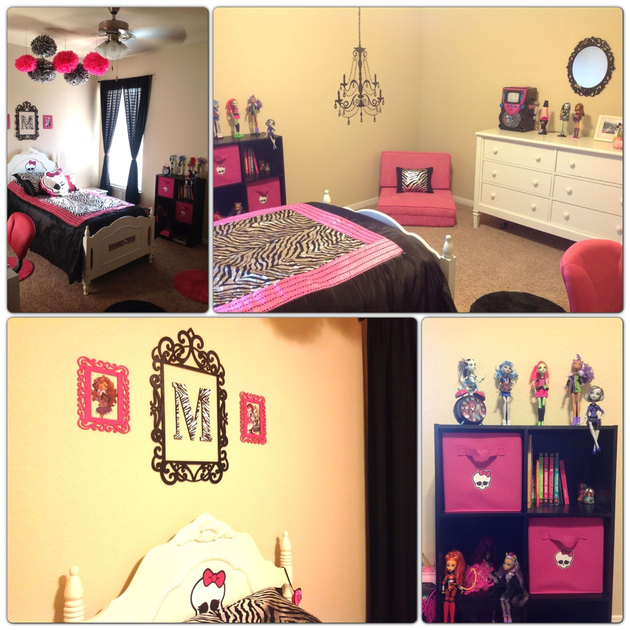 Best Monster High Room Zebra Pink Girls Room Just Like It With Pictures