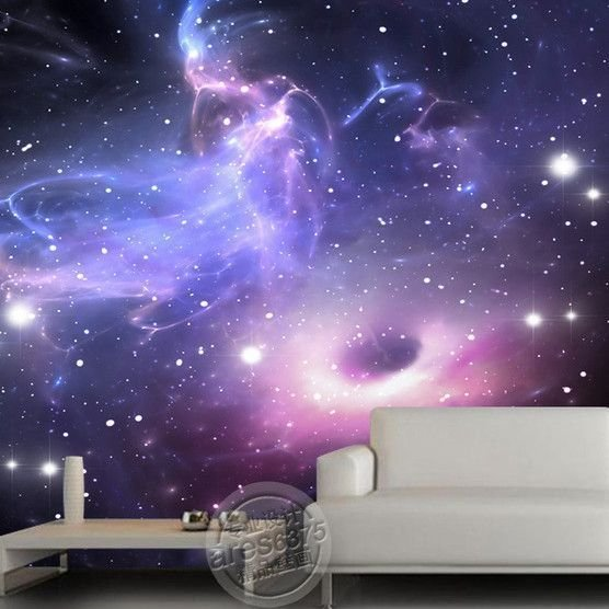 Best Universe Stars Galaxy Ceiling Or Wall Mural Room Ideas With Pictures