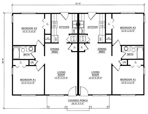 Best Image Result For One Story 2 Bedroom Duplex Floor Plans With Garage Duplex Pinterest With Pictures