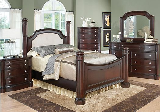 Best Dumont King Cherry 7Pc Poster Bedroom In 2019 Bedroom With Pictures