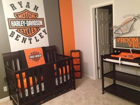 Best Custom 5 Piece Biker Motorcycle Crib By With Pictures