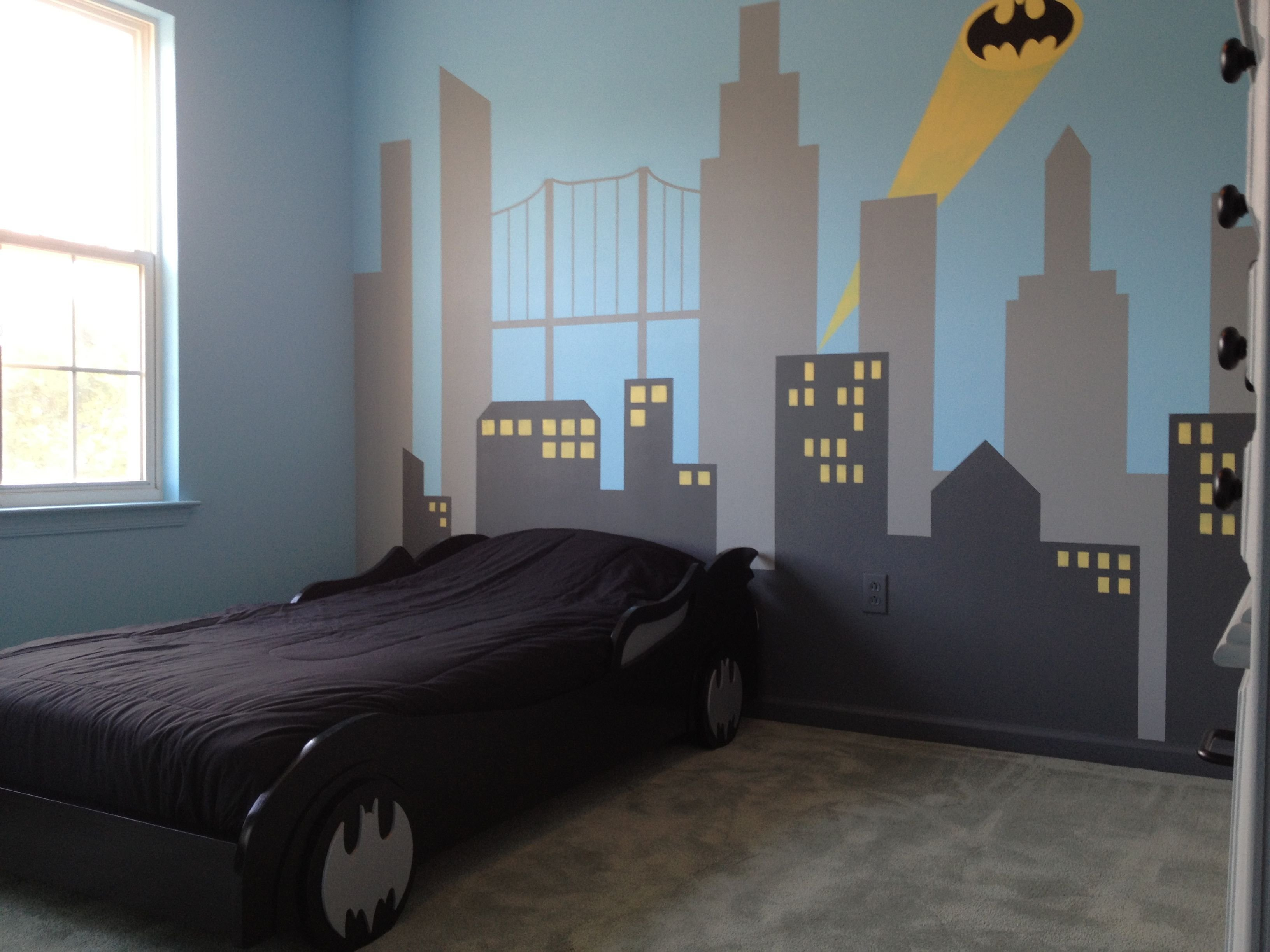Best My Son S New Batman Bedroom He Loves It House Aidan With Pictures